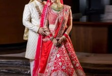 Dishul Wedding: From a shimmery saree gown similar to Anushka Sharma's to rocking the traditional red in a Abu Jani-Sandeep Khosla creation
