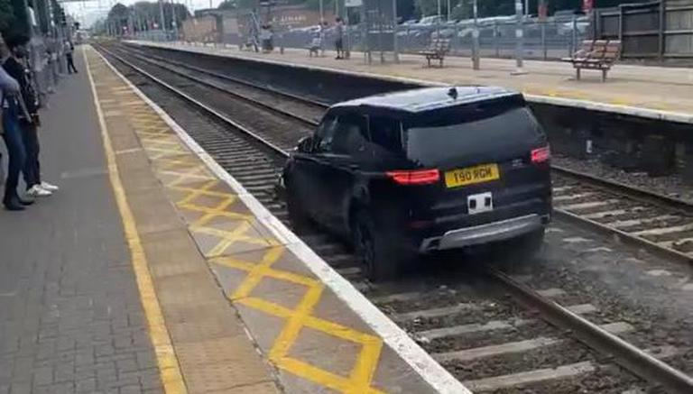 Grand Theft Auto: Man Drives Stolen Range Rover On Railway Tracks, Reminds People Of GTA