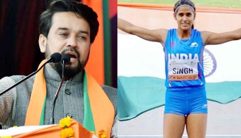 Anurag Thakur congratulates Shaili Singh for bagging silver at U-20 world athletics