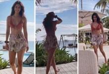 Disha Patani aces bikini body, shares HOT video of catwalking in red bra, colourful shorts