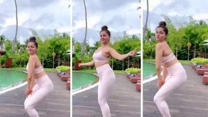 Rubina Dilaik twerks in sexy pink sports bra, leggings in latest video, fan says, 'koi AC chala do yaar'