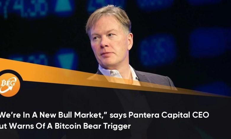 """""""हम एक नए बुल मार्केट में हैं,"""" पैन्टेरा कैपिटल के सीईओ कहते हैं, लेकिन एक बिटकॉइन भालू ट्रिगर की चेतावनी देते हैं"""
