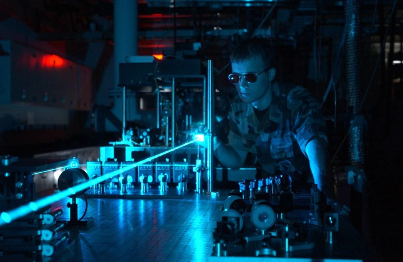 Laser Experiment Blue