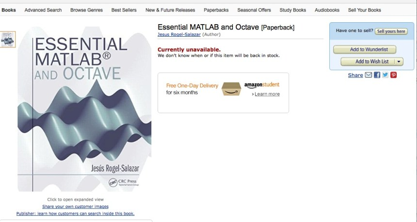 Essential Matlab AmazonCover