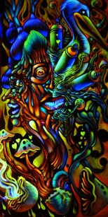 Black_light_king_gold_cap_mushroom_psychedelic_painting
