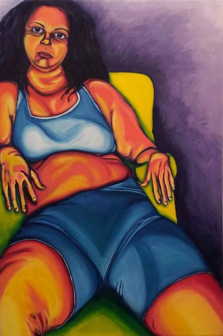 No Title, (c) JROW, 2012; 60x40, oil)