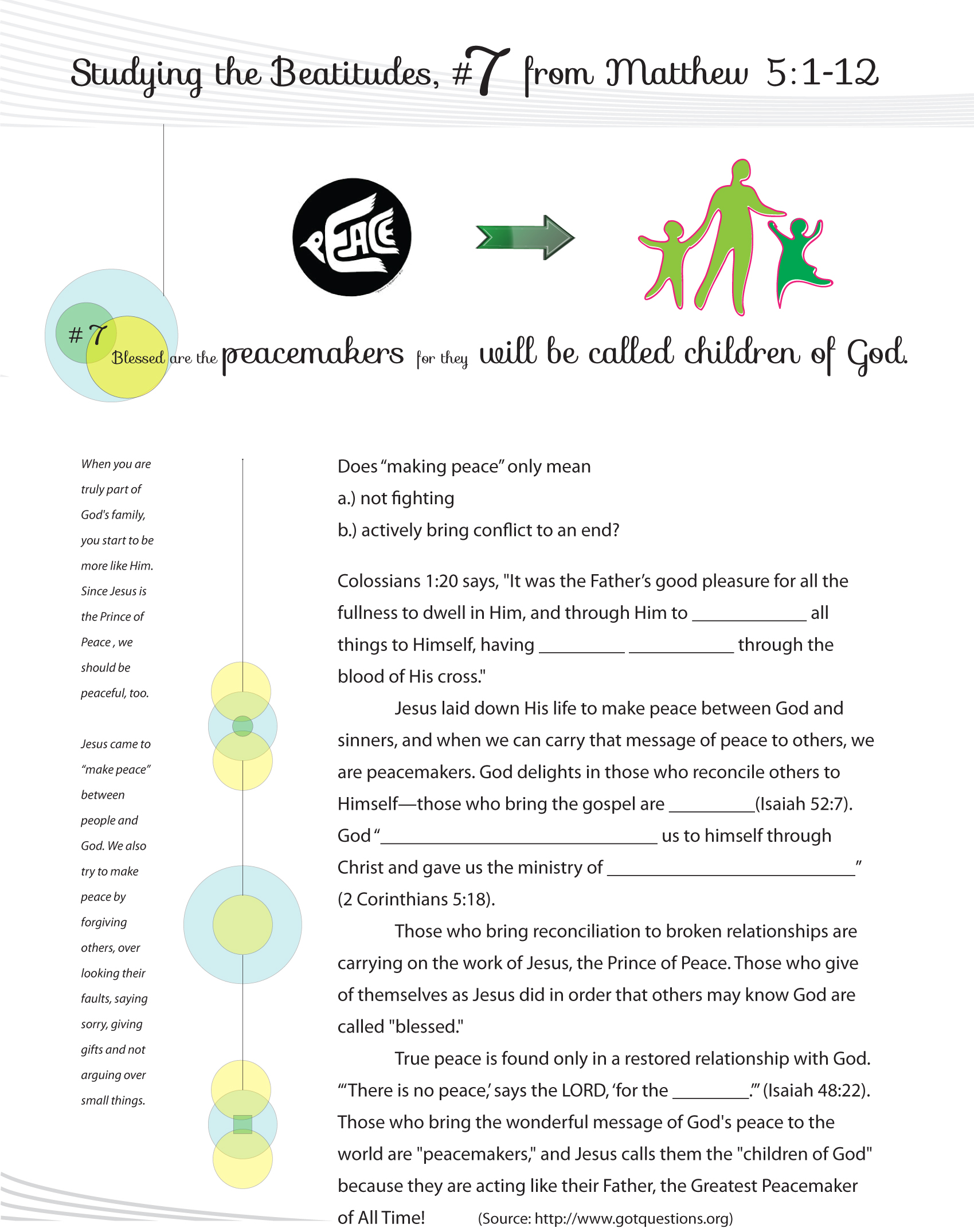 Beatitudes Graphics Worksheets Amp Curriculum For Sunday