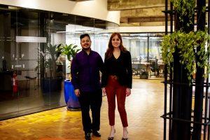 A economista da seguradora Coface, em visita à redação do JRS em São Paulo / Arquivo JRS
