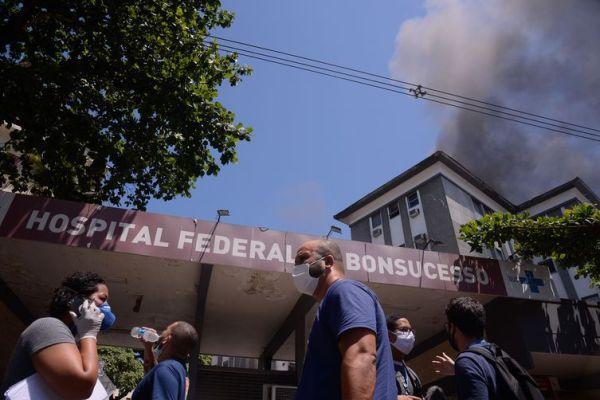 Incêndio no Hospital Geral de Bonsucesso - Foto: Tânia Rêgo/Agência Brasil
