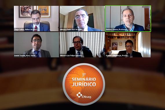 Participantes do 3º Seminário Jurídico de Seguros debatem os critérios técnicos e científicos para a incorporação de procedimentos, tratamentos e medicamentos na saúde, e o papel do Judiciário / Divulgação