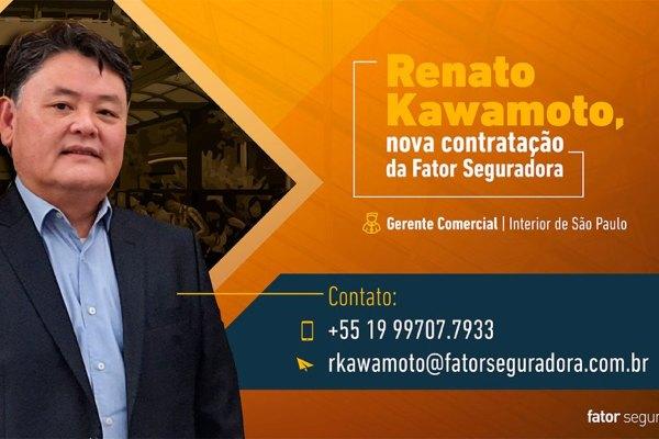 Fator Seguradora anuncia Renato Kawamoto como novo Gerente Comercial para o interior de SP / Reprodução