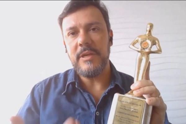 Fabio Lessa, Diretor Comercial da Capemisa Seguradora, durante a entrega do Oscar do Seguro / Reprodução