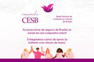 Clube das Executivas de Seguros de Brasília entrega cartas de apoio às mulheres com câncer / Divulgação