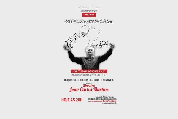 MAPFRE homenageia Corretores de Seguros com concerto especial do maestro João Carlos Martins / Divulgação