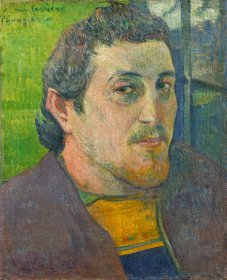 Paul Gauguin (French, 1848 - 1903 ), Self-Portrait Dedicated to Carrière, 1888 or 1889, oil on canvas, Collection of Mr. and Mrs. Paul Mellon