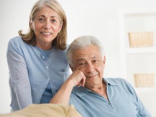 Happy Senior Couple --- Image by © Royalty-Free/Corbis