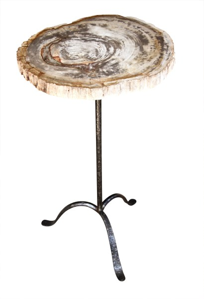 Custom Drink Table with Petrified Wood Top