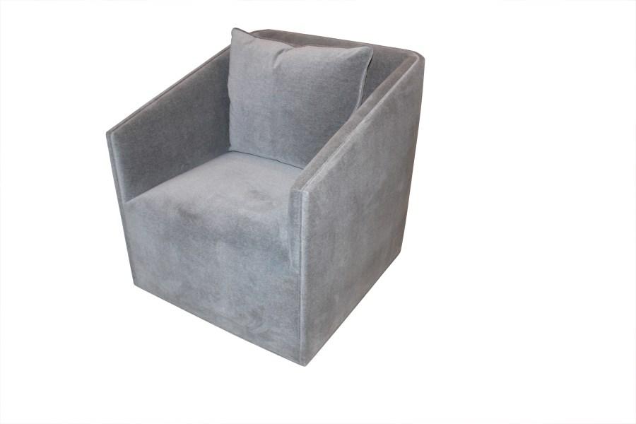 Custom Upholstered Swivel Chair