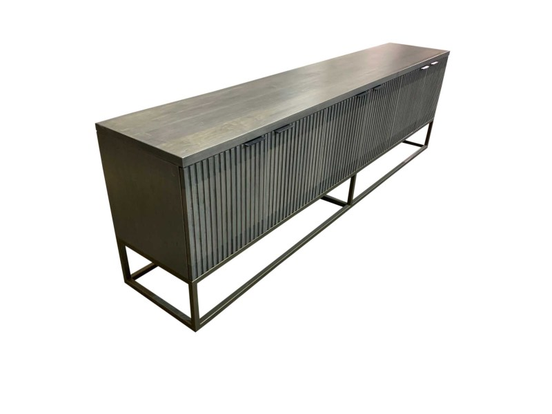 Fluted Credenza Side View