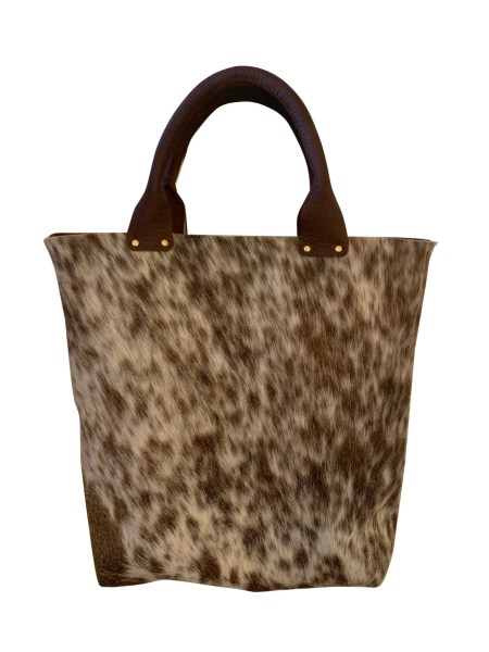 Hair on HIde Handle Tote Back