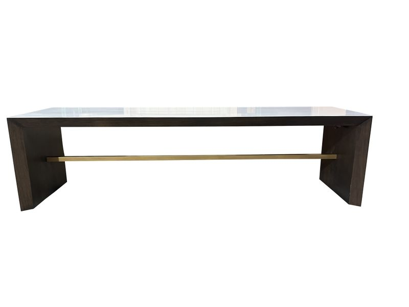 Lacquered Walnut Island Front-1