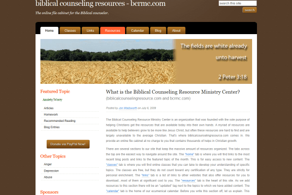 Biblical Counseling Resource