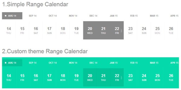 Js Tutorial - jQuery Range Calendar plugin