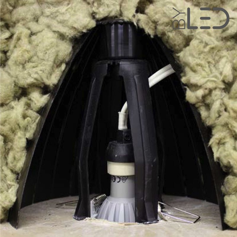 lot de 5 ecarteurs d isolant souffle ou projete pour spots led encastres