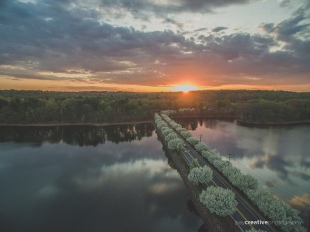 OTHER Aerial NJ Lale Sunset-1