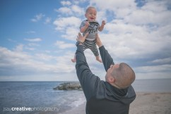 A father and his baby at the beach, Adorable, Baby, Beach, Beautiful Family, Belmar, Belmar Beach, Children, Excited baby, Family, Family at Belmar Beach, Family at the Beach, Family at the Jersey Shore, Father, Father and Son at the Beach, Jersey Shore, New Jersey, Ocean, Son, shore