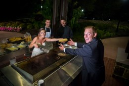 Bride and Groom with Grill