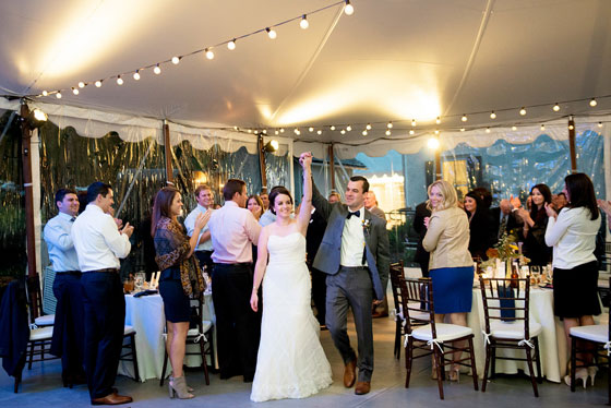Twinkle Lights in Wedding Tent