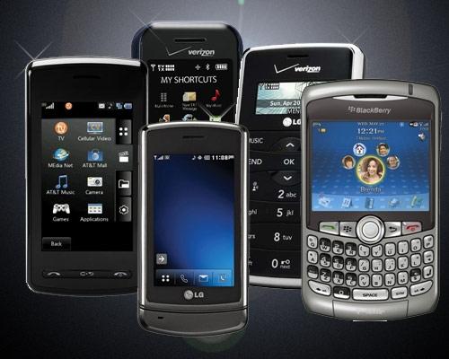 Group of Smart phones