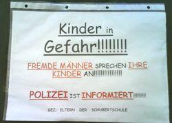 Affiche à Vienne, avril 2008