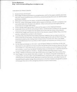 INSTRUCTIONS ADVENT CALENDAR