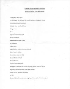 INSTRUCTIONS PAGE 1