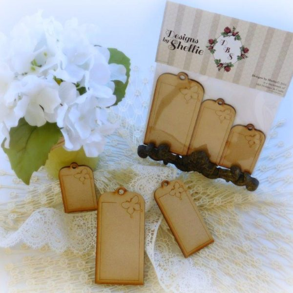 Designs by Shellie Laser Wood Butterfly Tags