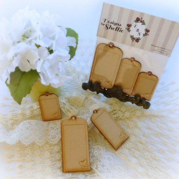 Designs by Shellie Laser Wood Butterfly Tags 3