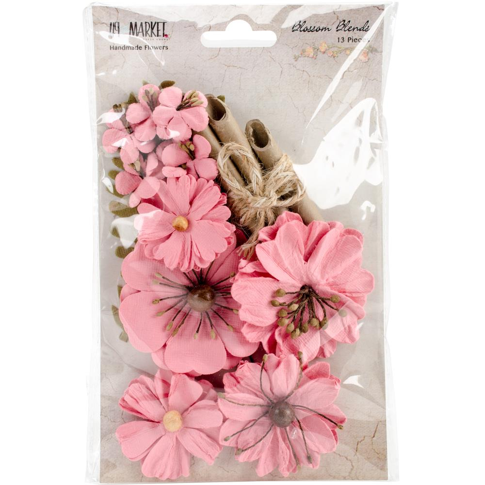 49 And Market Blossom Blends Paper Flowers Watermelon 13pkg