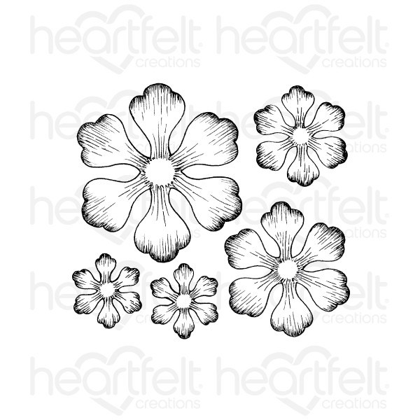 Heartfelt Creations Arianna Blooms Cling Stamp Set