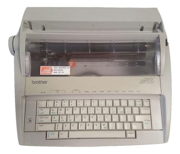 Brother GX-6750 Daisy Wheel Electronic Typewriter with ribbon cartridge