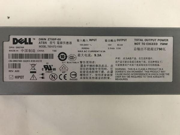 Dell 7001072-Y000 Power Supply. CN-M076R
