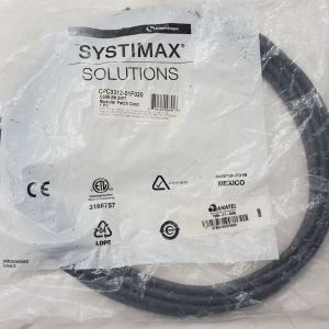 Systimax Solutions CPC3312-02F020 GS8E Patch Cord, Black, 20ft