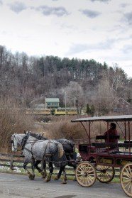 Image of carriage and train