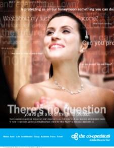 Co-operators, print ad – wedding