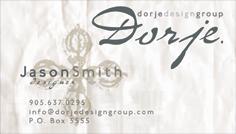 Dorje Design Group (business card)
