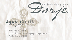 Dorje Design Group (business card)