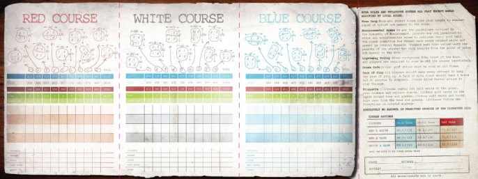 Mayfield Golf Club, score card
