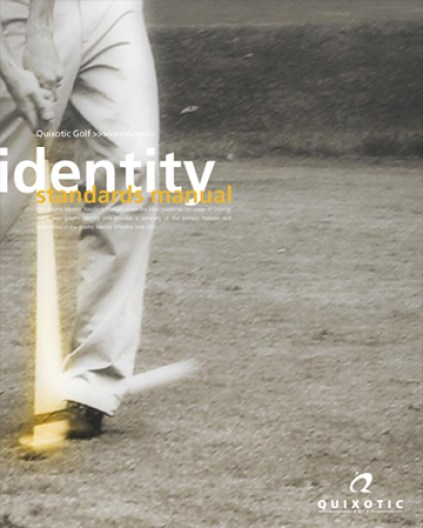 Quixotic Golf, brand ID guide, cover
