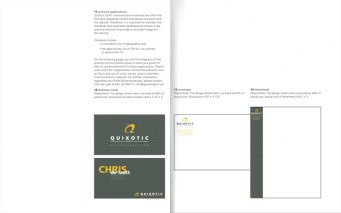 Quixotic Golf, brand ID guide (spread)